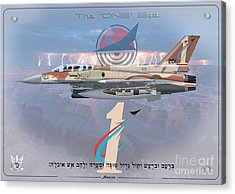 Israeli Air Force F-16i Sufa The One Squadron  Acrylic Print
