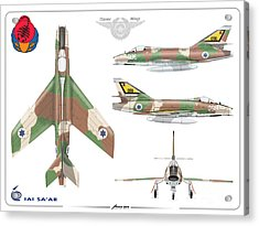 Israeli Air Force Iai Super Mystere Sa'ar Acrylic Print