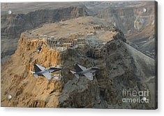 Israeli Air Force Lavi Over Massda  Acrylic Print