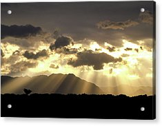Acrylic Print featuring the photograph Israeli Desert Sunrise At Timna by Yoel Koskas