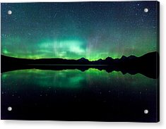 Acrylic Print featuring the photograph Iss Aurora by Aaron Aldrich