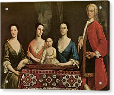 Issac Royall And His Family Acrylic Print by Robert Feke