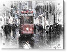 Istambool Historic Tram Acrylic Print