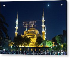 Istanbul Blue Mosque At Ramadan Acrylic Print