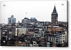 Istanbul Buildings Acrylic Print by John Rizzuto