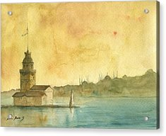 Istanbul Maiden Tower Acrylic Print by Juan Bosco