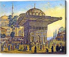 Istanbul Outdoor Bazaar Acrylic Print by Munir Alawi