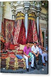 Istanbul Rug Merchants Acrylic Print by Ross Henton