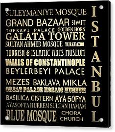 Istanbul Turkey Famous Landmarks Acrylic Print