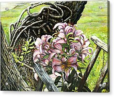 It A Jungle Acrylic Print by Leo Malboeuf