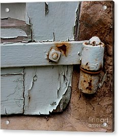 It All Hinges On Acrylic Print by Lainie Wrightson
