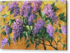 Acrylic Print featuring the painting It Is Lilac Time 2 by Marta Styk
