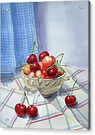 It Is Raining Cherries Acrylic Print by Irina Sztukowski