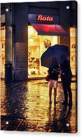 It Is Raining In Firenze Acrylic Print