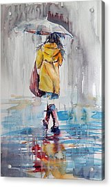 It Is Raining Acrylic Print by Kovacs Anna Brigitta