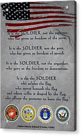 It Is The Soldier Acrylic Print