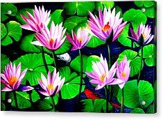 It Was Just Like A Lotus Flower Unfolding  Acrylic Print by Yuki Othsuka