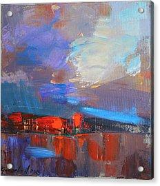 Acrylic Print featuring the painting It Will Soon Burst by Anastasija Kraineva