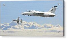 Acrylic Print featuring the digital art Italian Air Force - Ghibli by Pat Speirs