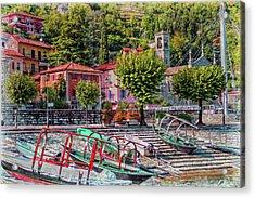 Italian Boat Dock Acrylic Print