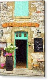 Italian Cafe Acrylic Print