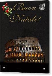 Italian Christmas Card Rome Acrylic Print