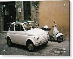 Acrylic Print featuring the photograph Italian Classic Commute  by Frank Stallone