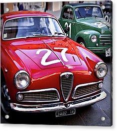 Italian Classics Alfa Romeo Acrylic Print by Patrick English