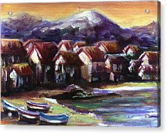 Italian Coast Acrylic Print by Patricia Halstead