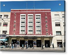 Italian Colonial Art Deco Old Cinema Building In Asmara Eritrea Acrylic Print