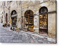 Italian Delicatessen Or Macelleria Acrylic Print by Jeremy Woodhouse