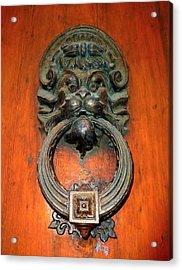 Italian Door Knocker Acrylic Print by Jen White