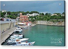 Italian Harbor - Puglia Acrylic Print by Italian Art