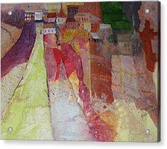 Italian Hill Town Acrylic Print