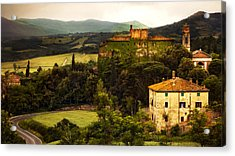 Italian Castle And Landscape Acrylic Print by Marilyn Hunt