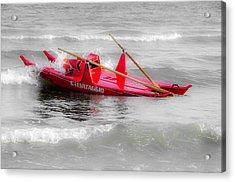 Italian Life Guard Boat Acrylic Print