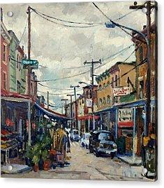 Italian Market Philadelphia Rainy Acrylic Print
