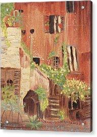 Italian Scene Acrylic Print by Suzanne  Marie Leclair