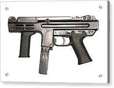 Italian Spectre M4 Submachine Gun Acrylic Print by Andrew Chittock