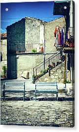 Italian Square With Benches Acrylic Print