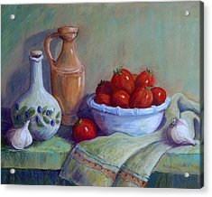Italian Still Life Acrylic Print by Candy Mayer