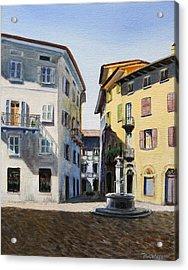 Italian Street Acrylic Print by Paul Walsh