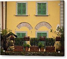 Italian Terrace Acrylic Print