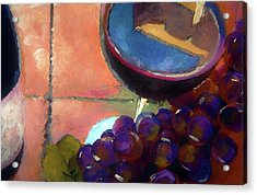 Italian Tile And Fine Wine Acrylic Print