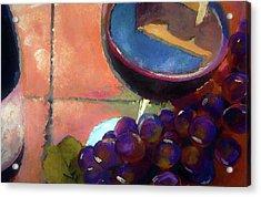 Italian Tile And Fine Wine Acrylic Print by Lisa Kaiser