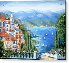 Italian Village By The Sea Acrylic Print