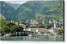 Italian Village On Lake Como Acrylic Print
