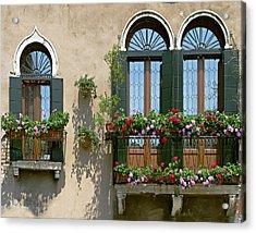 Italian Windows Acrylic Print by Julie Geiss