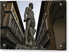 Italy, Florence, Sculpture Of Gercules Acrylic Print by Sisse Brimberg & Cotton Coulson