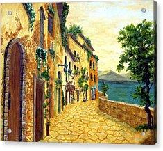 Italy's Hues Acrylic Print by Leslie Rhoades